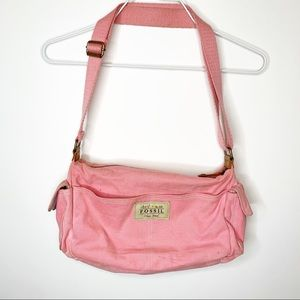 Fossil Pink Canvas Bag